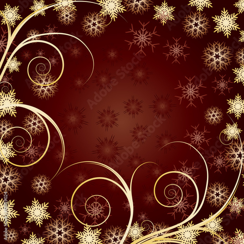 Beautiful Gold Christmas background