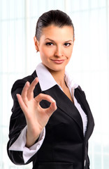 businesswoman. Isolated over white background..
