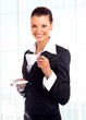 business woman with cup of coffee..