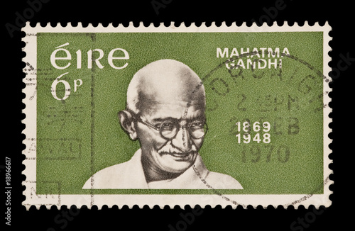 EIRE postage stamp celebrating the birth centenary of Gandhi