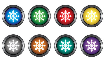 Buttons with snowflakes