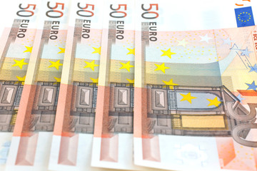 fifty euro notes background