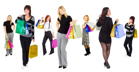 Girls shopping - here and there