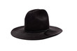 black cowboy hat on white
