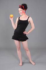 freundliche Orange