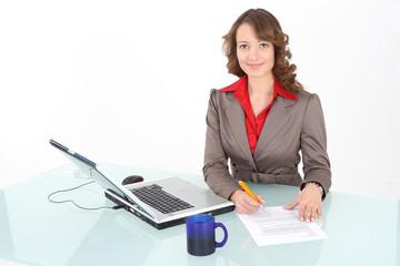 Sekretärin beim Schreiben