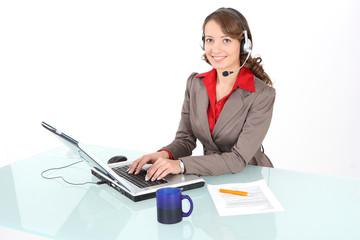 Callcenter-Agent Arbeit