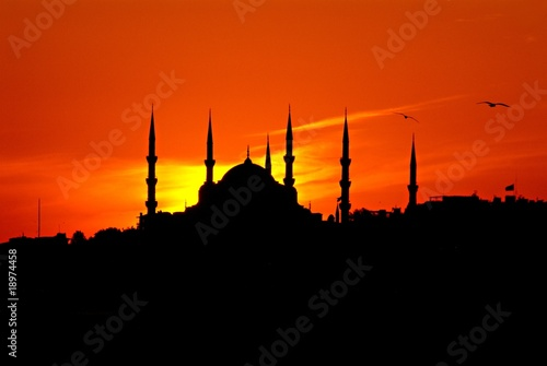 Blue Mosque in Evening