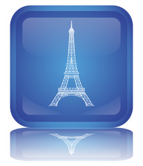 "Bouton ""Tour Eiffel"" (Paris - France - Tourisme - Symbole)"