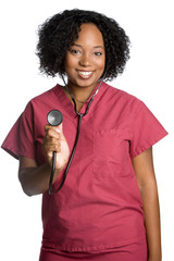 Smiling Nurse With Stethoscope