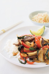 thai beef with chiles and basil