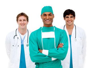 Medical team smiling at the camera