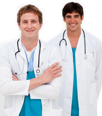 Portrait of two male doctors