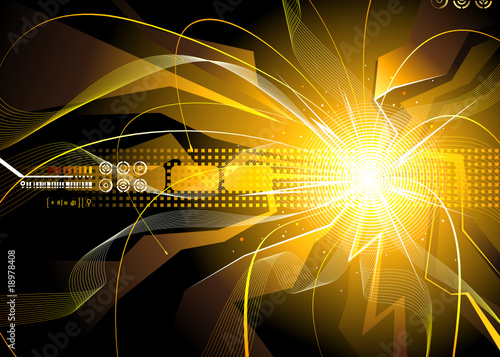 Technology background of energy sparks. vector layered.