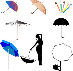 umbrella and beach umbrella - vector