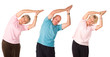 Older mature group of people working out