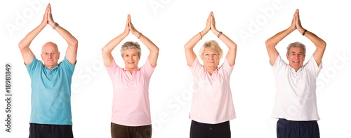 Group of mature people at gym