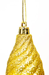 Close up of gold bauble