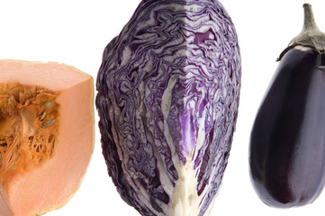 cabbage eggplant and pumpkin