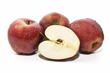 manzanas recien cosechadas
