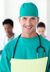 Surgeon holding a patient's folder