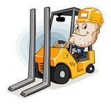 Forklift and Labor poster