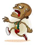African Athlete on Marathon poster