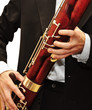 Playing bassoon