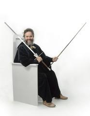 Schwertlehrer Liechtenauer lacht ironisch