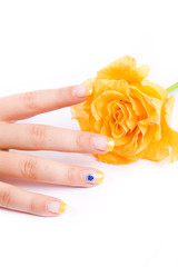 Nails with rose