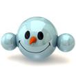 smiley snowman