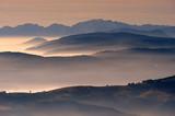 Fototapety Montagna, Dolomiti, Alpi, Italia, Nebbia, Nuvole, Cima Grappa