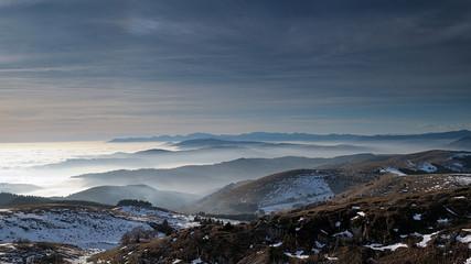 Montagna, Dolomiti, Alpi, Italia, Nebbia, Nuvole