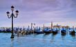 Leinwanddruck Bild - Venezia acqua alta, gondole