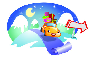 Happy Car - Christmas Travel
