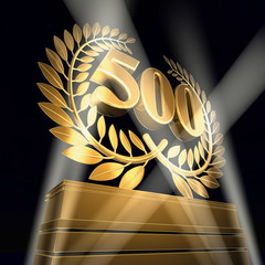 500 birthday celebration laurel wreath anniversary