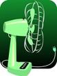 Illustration of green table fan