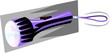 Illustration of a violet coloured torch