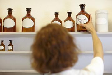 Glycerol-Flasche nehmen
