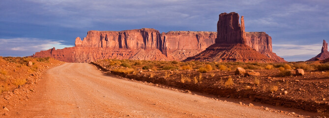 Monument Valley Road Panorama