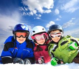 Children in ski clothing