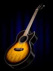 acoustic guitar on the stage