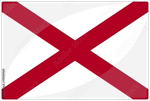 drapeau glassy alabama flag