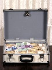Symbolfoto Koffer voller Geld