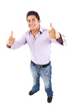 Man Giving Two Thumbs Up