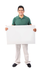Person Holding Poster Board Sign