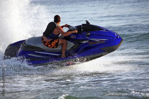Fotobehang Water Motorsp. Jet ski sport