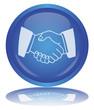 Handshake Button (Cooperation -Teamwork - Agreement - Vector)
