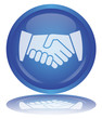 Handshake Button (Partnership - Contract - Hands - Vector)