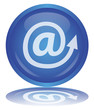 @ Button (At Sign - Arrobase - Internet - Web - e-mail - Vector)